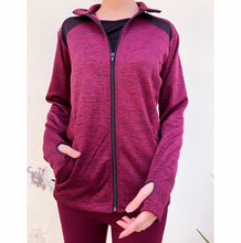 Load image into Gallery viewer, Maroon fleece jacket