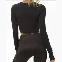 Load image into Gallery viewer, Black mesh cropped top