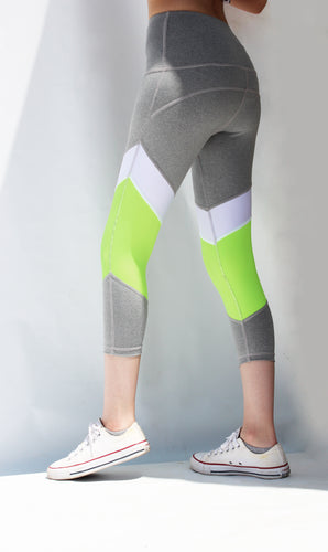 Neon green tights
