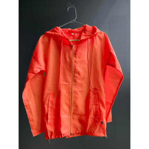 Watermelon orange wind shielder jacket