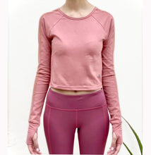 Load image into Gallery viewer, Pink mesh cropped top