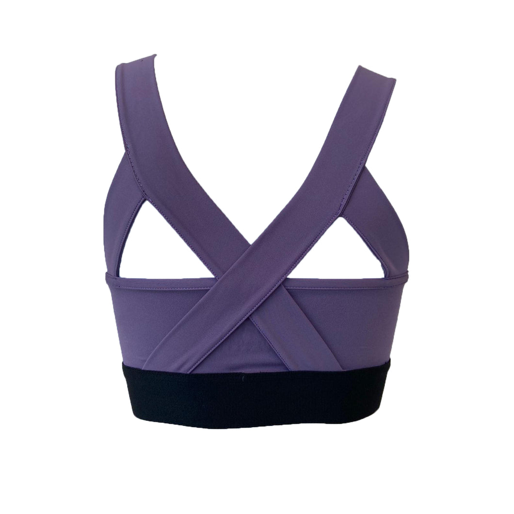 Purple sports bra