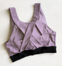 Load image into Gallery viewer, Purple sports bra