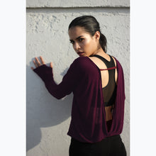 Load image into Gallery viewer, Burgundy backless top
