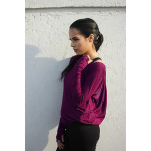 Burgundy backless top