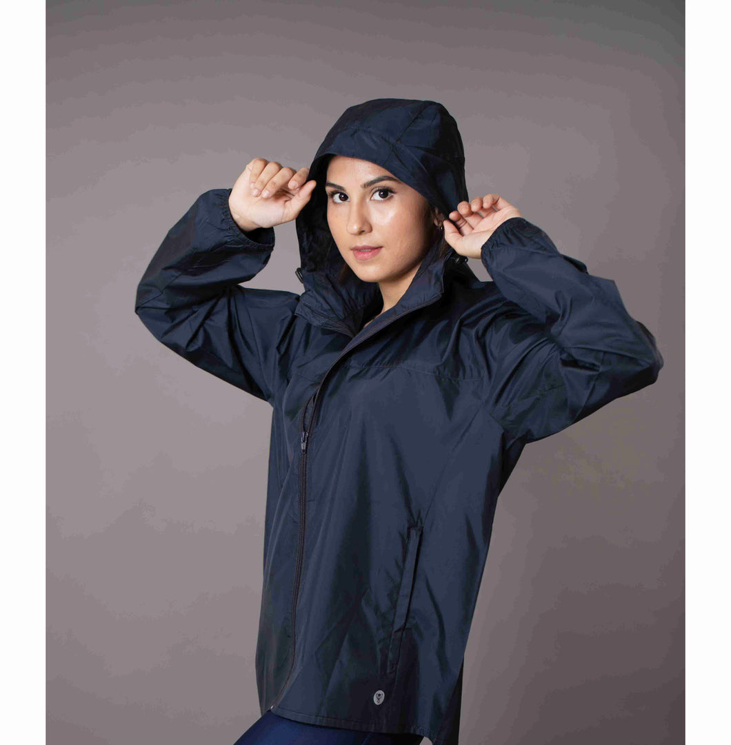 Unisex navy blue wind shielder jacket
