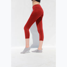 Load image into Gallery viewer, Red cropped leggings