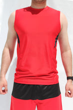 Load image into Gallery viewer, Red Men's tanktop shirt