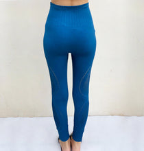 Load image into Gallery viewer, Sapphire blue seamless compression tights
