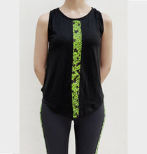 Load image into Gallery viewer, Black snake print tanktop