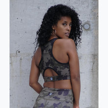 Load image into Gallery viewer, Camo pocket sports bra