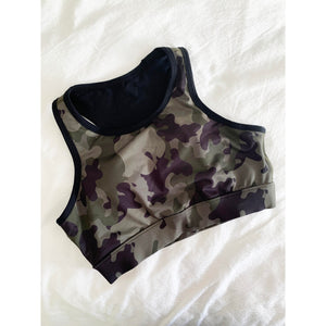 Camo pocket sports bra