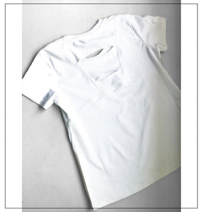 White half sleeves top