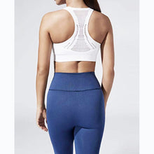 Load image into Gallery viewer, White compression sports bra