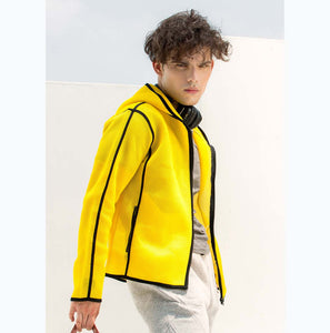 Yellow Unisex mesh jacket