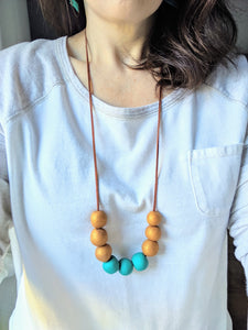 Solid Clay and Suede Necklace