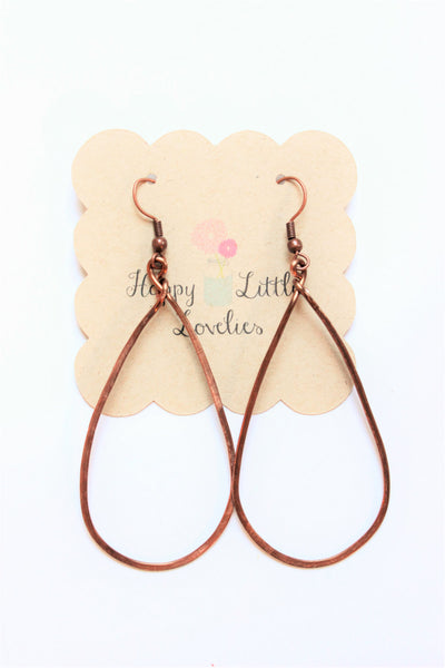 Bronze Teardrop Earrings