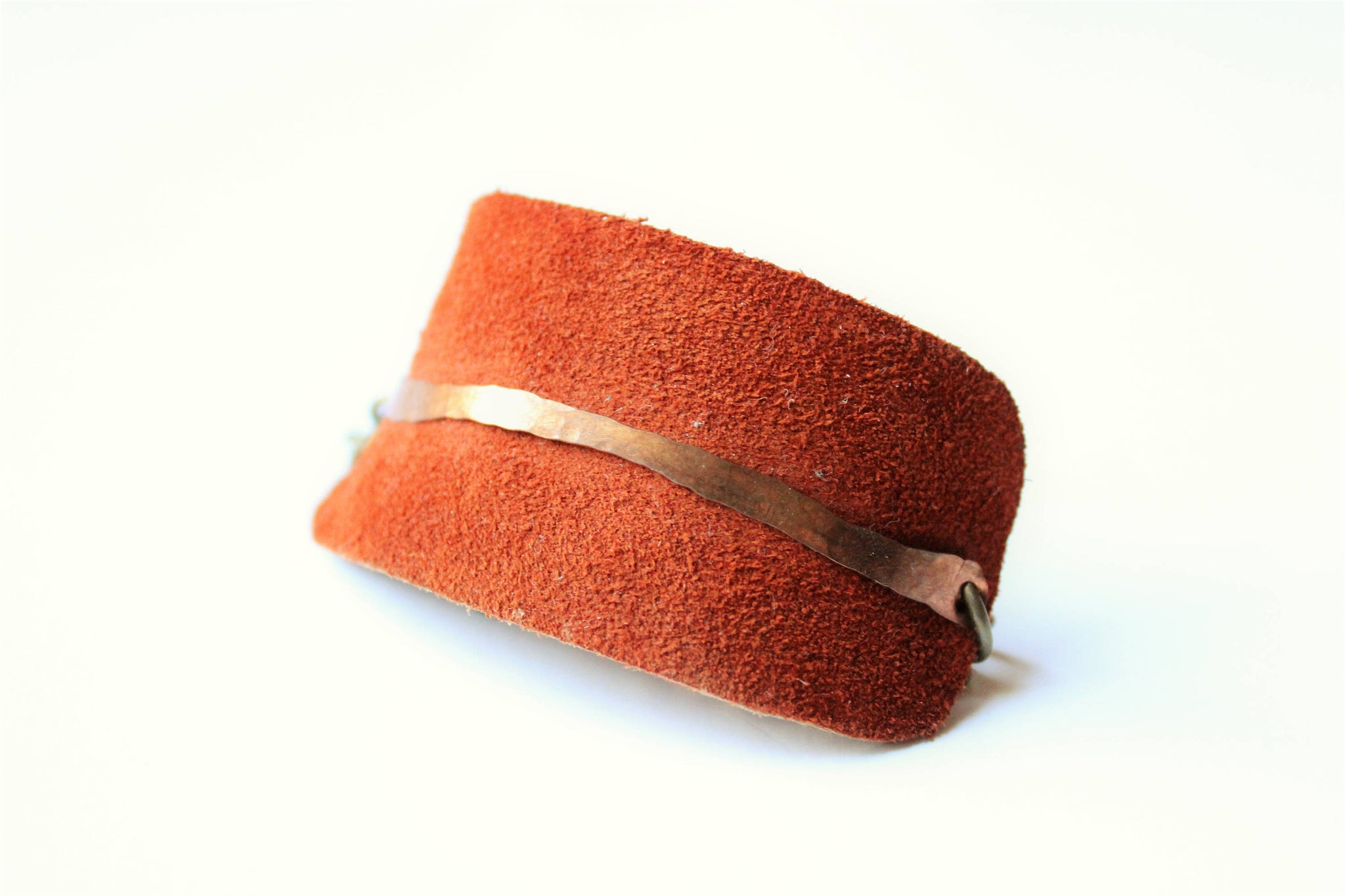 Rust Suede and Copper Bracelet