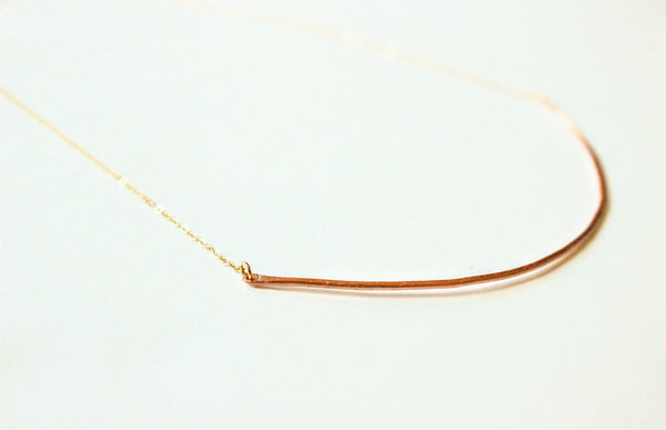 Copper Bar Necklace
