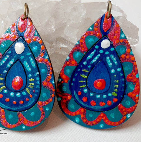 Talisman Earrings - Fire and Water