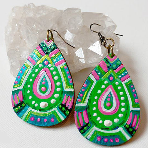 Talisman Earrings - Green Vitality