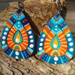 Talisman Earrings - Metallic Blue Shield