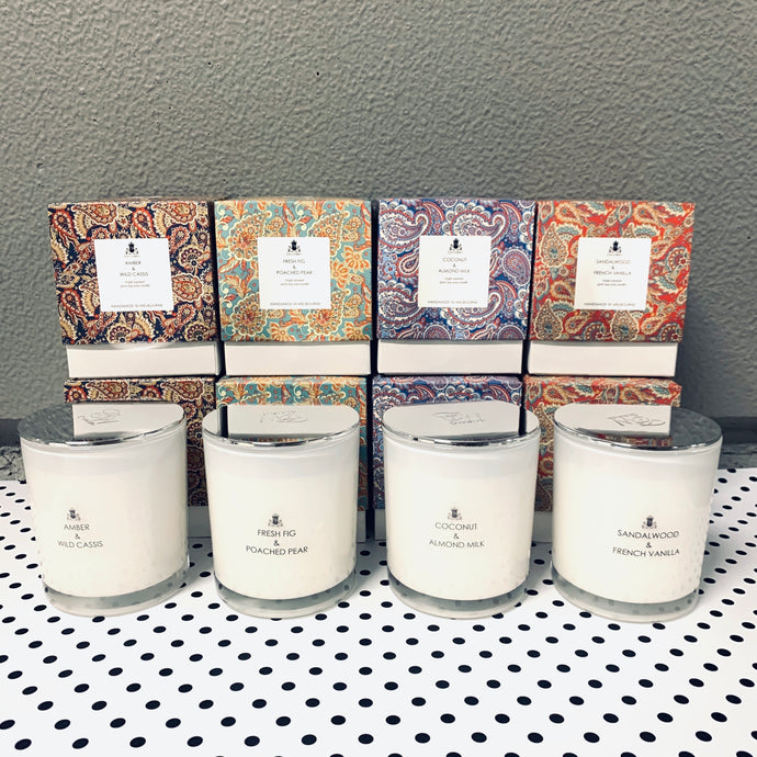 Large Paisley Candle - (4 Scents Available) - 60hr Burn Time