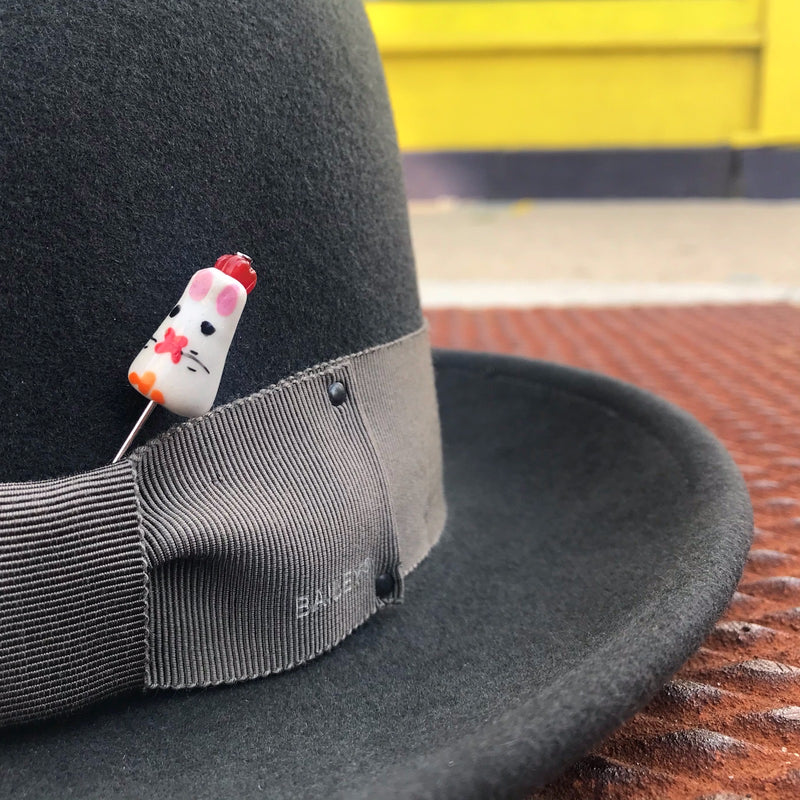 White Rabbit Hat Pin