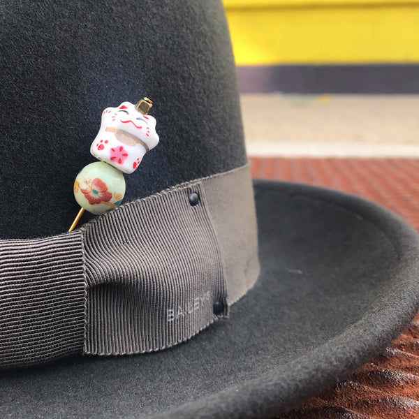 Lucky Kitty Hat Pin