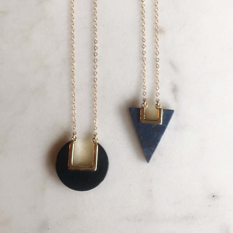 Geometric Stone Necklace