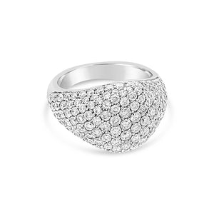 18K White Gold Pave Pinky Ring