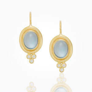 Temple St. Clair 18K Classic Cabochon Aquamarine And Diamond