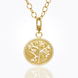 18K Small Pavé Tree of Life with Diamonds