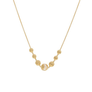 Africa 18K Yellow Gold and Diamond Necklace