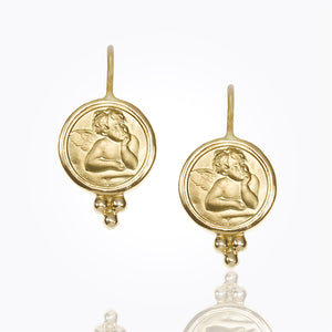 Temple St. Clair Angel Earrings 10mm in 18K Gold