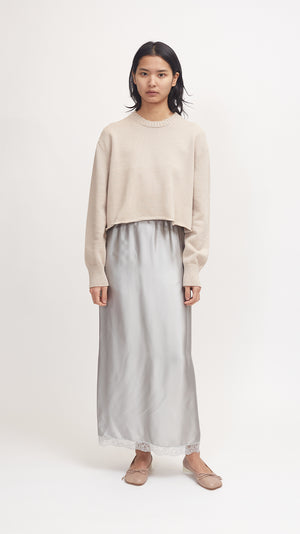 MM6 by Maison Margiela Elbow Patch Sweater in Beige