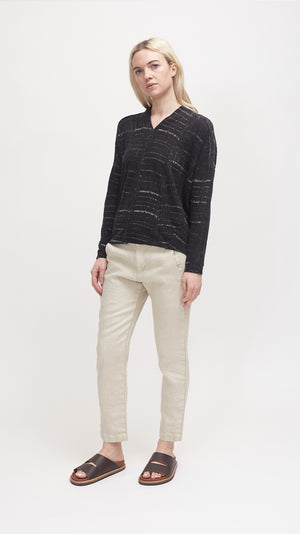Pas de Calais Cotton Pullover in Black
