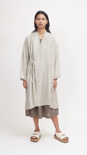 Pas de Calais Light Weight Robe Coat in Beige