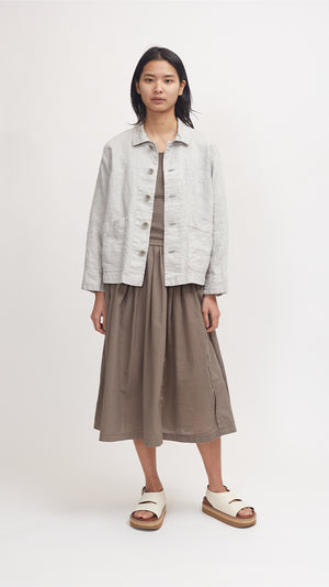 Pas de Calais Washed Linen Jacket in Gray