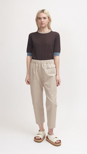 Sofie D'Hoore Punch Cotton Pant in Woven Desert