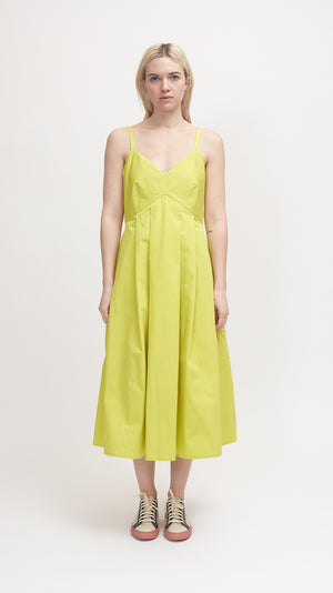 Sofie D'Hoore Dauphine Cotton Twill Dress in Anise