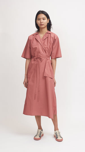 Sofie D'Hoore Dina Cotton Dress in Terracotta