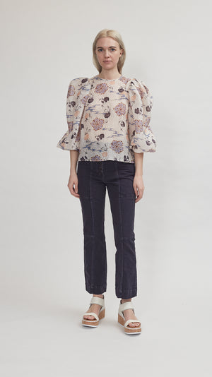 Ulla Johnson Eliza Blouse in Quartz