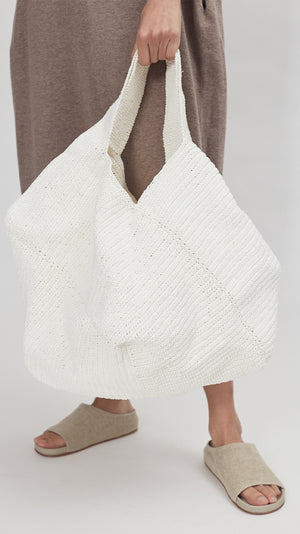 Lauren Manoogian Big Pinwheel Tote in White