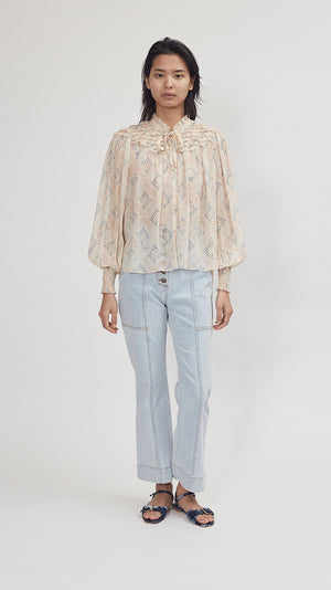 Ulla Johnson Eloise Blouse in Aurora
