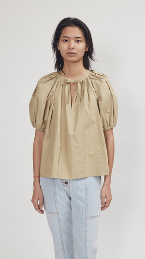 Ulla Johnson Finn Top in Khaki