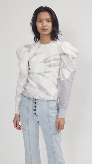 Ulla Johnson Harlan Pullover in Thistle Tie Dye