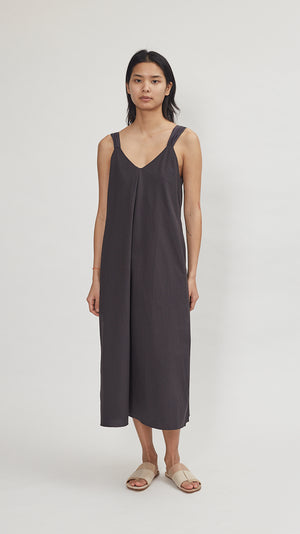 Elsa Esturgie Eglantine Dress in Carbon