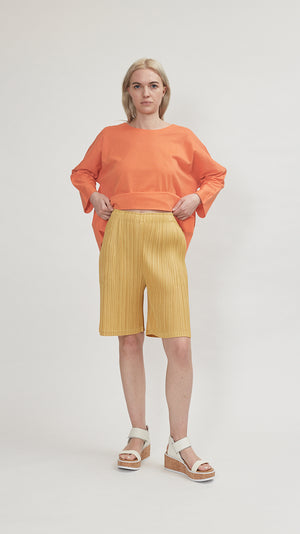 Issey Miyake Thicker Bottoms 2 Shorts in Yellow