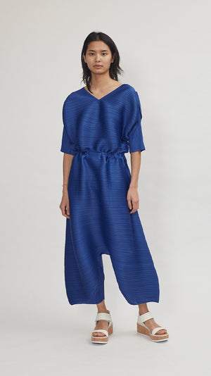 Issey Miyake Pleats Please Dive Jumpsuit in Blue